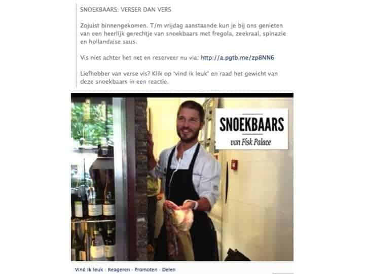 restaurantmarketing facebook, facebook marketing restaurant, horeca marketing bureau, restaurant marketing facebook