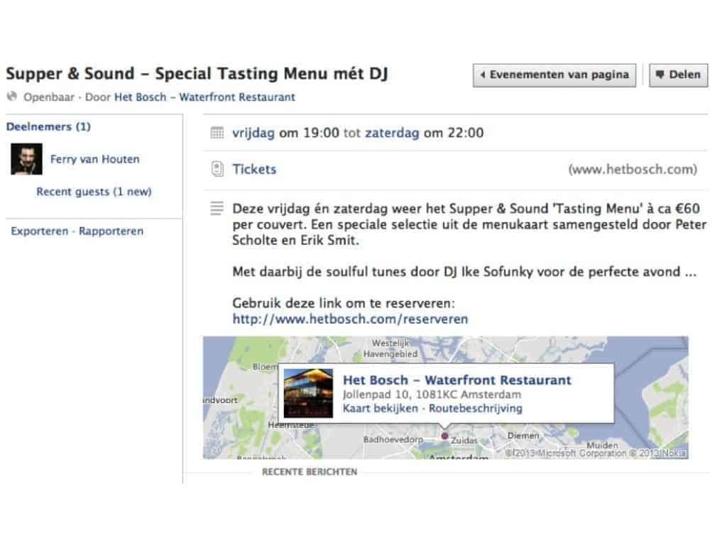 horeca facebook, facebook horeca, horeca marketing, marketing horeca, facebook zakelijk