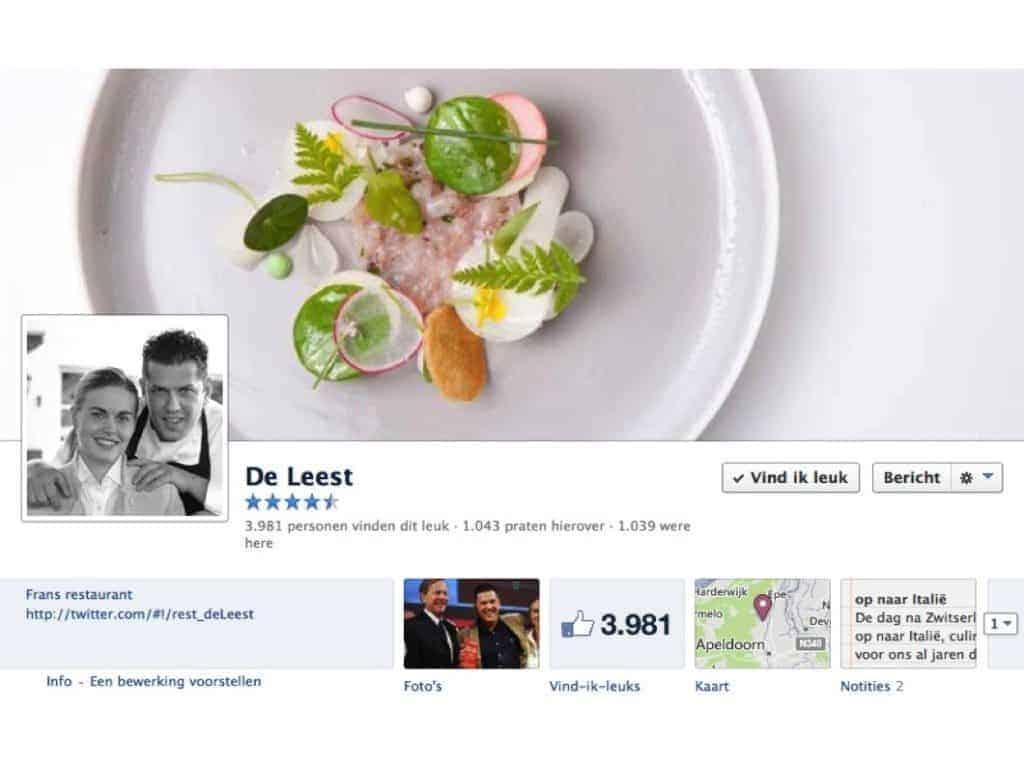 Facebook restaurant beoordeling, recensies, facebook, horeca, facebook