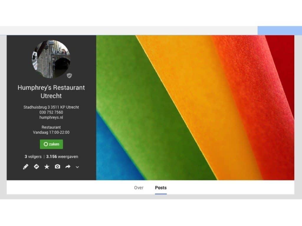 google plus, vindbaarheid, horeca, hospitality, restaurant, restaurants, restaurantmarketing, horecamarketing