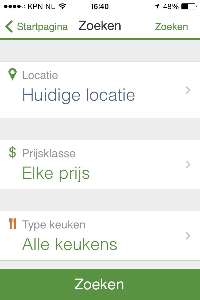 restaurant app, apps, horeca, horeca app