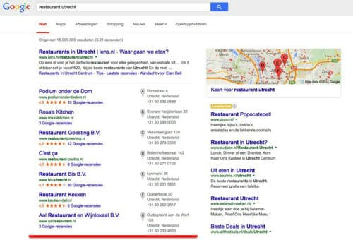 online marketing, seo, vindbaarheid, restaurant, adviesbureau, horeca, hoog in google, horecamarketing, restaurant marketing blog
