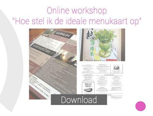 workshop, menukaart, maken, opstellen, menukaart maken, menukaart opstellen, enschede, apeldoorn, tilburg