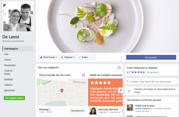 Facebook marketing tips voor restaurants