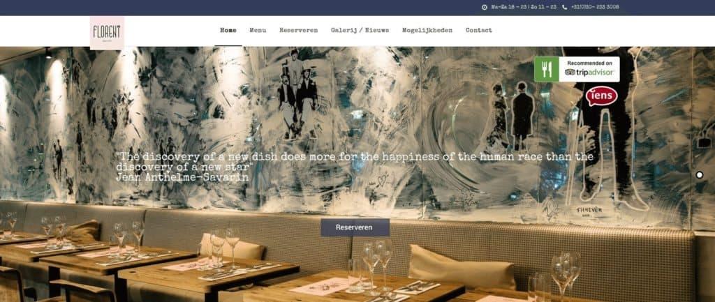 website, horeca, restaurant, online, bouwen, ontwerpen, horeca adviesbureau amsterdam, webbouwer horeca, restaurant websites