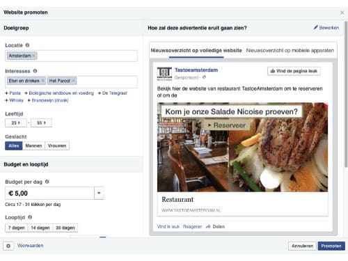 Facebook, marketing, promoties, promotie, likes, restaurants