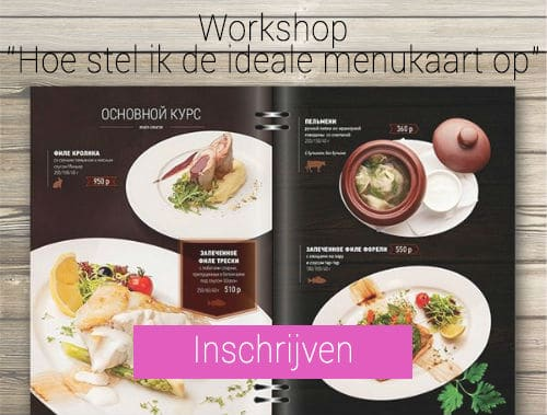 workshop menukaart, workshop, training, horeca, menukaart, opstellen, restaurant
