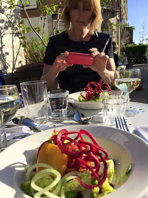 terras, zomer, 2015, salade, roodfotografie, leiden, rotterdam