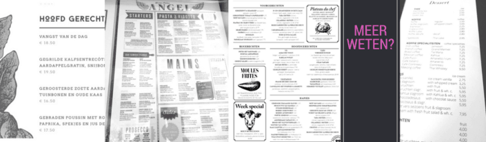 Online workshop menukaart