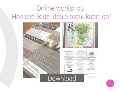 Online Workshop Menukaart