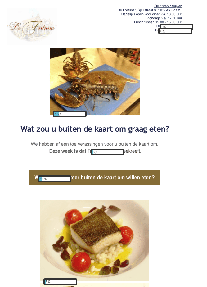 mail, nieuwsbrief, restaurant, emailmarketing
