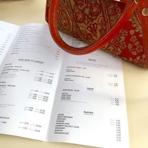 menukaart restaurant maken, hospitality verbeteren, conceptontwikkeling horeca